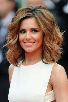 cheryl cole is the best with white dress and short brown hair