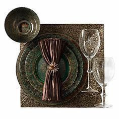 Beaded Placemat - Set of 4 - Champagne | Placemats | Table Linens | Tableware | Z Gallerie