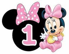 Disney babies baby minnie ears second birthday heat transfer iron on Minnie Mouse Cupcake Toppers, Minnie Mouse Theme Party, Minnie Mouse Cookies, Minnie Mouse Birthday Decorations, Minnie Mouse Birthday Invitations, Mickey Mouse 1st Birthday, Minnie Mouse Images, Baby Mickey Mouse, Mickey Mouse Wallpaper