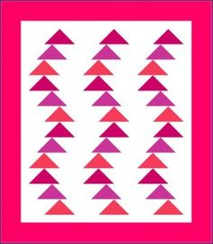 Windblown flying Geese pattern by Lyn Brown--free mini quilt pattern