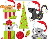 christmas cats on Etsy, a global handmade and vintage marketplace.