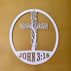 Cross Tree of Life with John 3:16/ Metal Cross/ Tree of Life/
