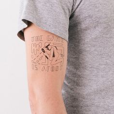 """""""The Game is Afoot"""" (from """"The Adventures of Sherlock Holmes"""" by Arthur Conan Doyle) -- This is a """"Temporary Literary Tattoo""""!!!  Click through to Litographs to see the whole collection."""