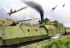 Tren blindado soviético 'Kozma Minin' bajo ataque de tres Junkers Ju-87 Stuka. Valery Petelin http://www.elgrancapitan.org/foro/viewtopic.php?f=12&t=17519&p=891785#p891785