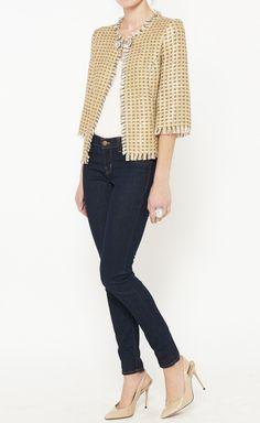 Trina Turk Gold Jacket | VAUNTE