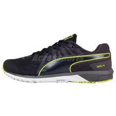 044030fbc489e2 Puma Faas 300 V4 Black Yellow Mens Running Shoes 187528-06