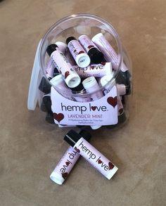 Lavender Mint lip balm from Hemp Love