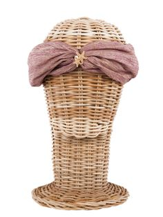 Turbante MARTINICA / Hippie, boho-chic, ethnic style. Fashion, Casual Style. Rosebell purple silk turban - Beach style