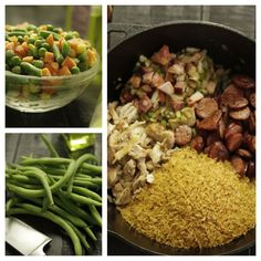 Add frozen or fresh veggies to Camellia Jambalaya Dinner Mix for a little color. Just throw 'em in the pot with the mix and your chosen meats/proteins.