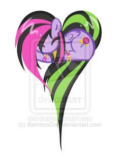 Punk Pony Heart Drawing