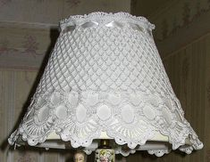 Elegant accent - rose design in filet crochet. Victorian refinemnt with delicate satin ribbon gathering the top