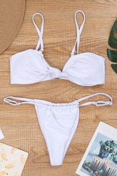 Marina Bikini Blau//Weiß mit Druck Cup mit Bügel Gr.M-2XL Cup B-D