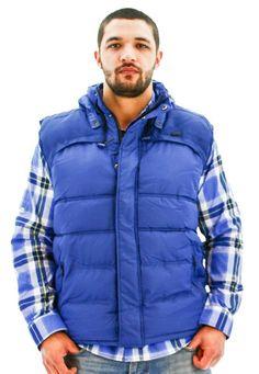 Red, White, & Beautiful - Rocawear Men's Puffer Vest Jacket Coat
