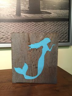 Custom Mermaid Rustic wood block/Engagement Photo Prop/Wedding Table Decor/Bridal Shower Decorations/ocean/Personalized Sign/Mermaid/girls