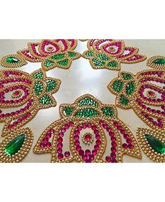 Rangoli Designs Peacock, Indian Rangoli Designs, Rangoli Designs Images, Henna Designs, Door Hanging Decorations, Diwali Decorations, Wedding Decorations, Art N Craft, Craft Work