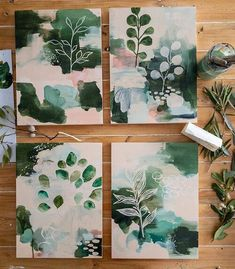 Botanical Abstracts Floor home painting illustration Art Inspo, Painting Inspiration, Journal Inspiration, Journal Ideas, Abstract Watercolor, Watercolor Paintings, Abstract Painting Ideas On Canvas, Creative Painting Ideas, Abstract Designs
