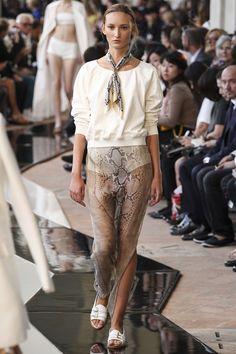 Trussardi ss 14 (trending- shorts underneath sheer skirting- everywhere!)