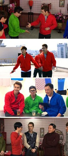 Siwon and Jackie Chan on Running Man  (Come visit kpopcity.net for the largest discount fashion store in the world!!)