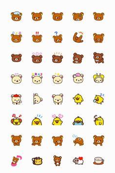 rilakkuma and friend San-x Washi emoji planner stickers 40 pcs by JpKrHk on Etsy Korean Stickers, Emoji Stickers, Kawaii Stickers, Printable Stickers, Cute Stickers, Planner Stickers, Emoji Drawings, Cute Kawaii Drawings, Kawaii Doodles