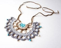 bobbinlacemaking rev fiber necklace