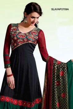 $109 Resham Marvel Georgette Salwar Suit From Cbazaar