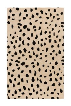 Animal Print Rug #leopard #cheetah #spotted #beige