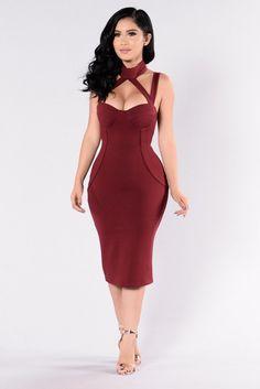 Evil Queen Dress - Burgundy