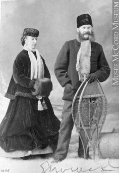 E. Lindsay and lady, Montreal, QC, 1868