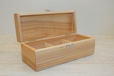 Wooden Gift Box / 3 Compartments Box / Keepsake Box / Jewellery Box / Ash Wood Box / Storage Box / Collection Box