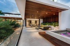 interior tropical modern - Google Search Miami Beach, Indoor Outdoor, Infinity Pool, Modern Condo, Miami Gardens, Florida, Expensive Houses, Mansions Homes, Celebrity Houses