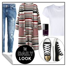"""""""Untitled #11"""" by siggan22 on Polyvore featuring H&M, RE/DONE, Converse and Chanel"""