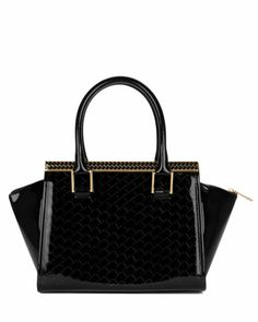 TENA - T embossed tote bag - Black | Womens | Ted Baker UK