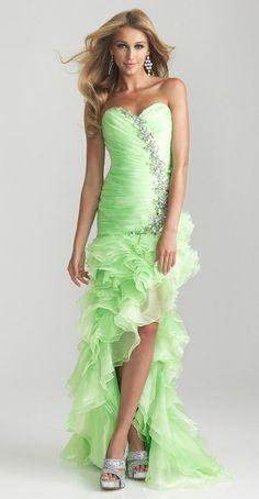 Cute lime green prom dress!!!