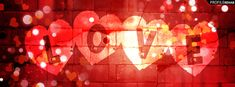 facebook covers love | Red Love Text Facebook Cover for Timeline Preview