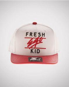 Fresh Ego Kid (FEK) x Starter Snapback White   Red 2deb0b2479d59