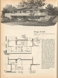 The House Plans Are From Home Planners 180 Multi Level Designs 1977 |  VinTagE HOUSE PlanS~1970s | Pinterest | Planners, House And Vintage House  Plans