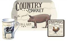 Farmers Market ''Time For Tea'' Gift Set, including Mug, Coaster & Tray