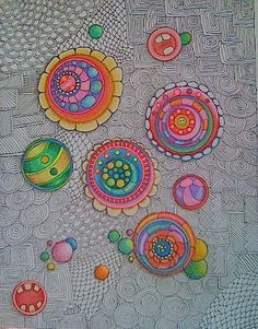 The patterns & the Colour Zentangle Drawings, Doodles Zentangles, Zentangle Patterns, Tangle Doodle, Tangle Art, Doodle Art, Longarm Quilting, Free Motion Quilting, Arabesque