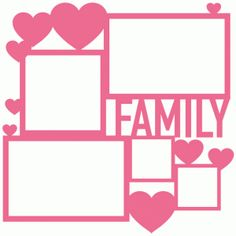 Silhouette Online Store - View Design #61044: family collage frame page mat