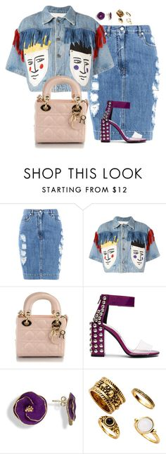 """Denim #1"" by matousadiya on Polyvore featuring mode, Moschino, JC de Castelbajac, Christian Dior et Jeffrey Campbell"