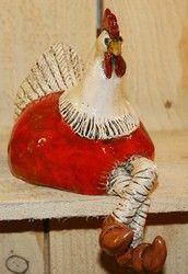 L'Atelier d'Anduze: poule en faïence de Chris Loubersanes