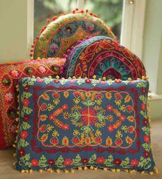 A Polar Bear's Tale: Fair Trade crewel work cushions