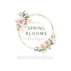 Flowers Logo Inspiration Watercolors 45 Ideas For 2019 Watercolor Logo, Watercolor Flowers, Logo Inspiration, Logo Floral, Flower Logo, Graphisches Design, Design Blog, Flower Shop Design, Flower Designs