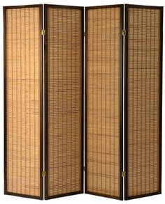 The beautiful Kobe room divider screen made with flat slat bamboo and dark timber surround available from Partition Wall Ikea, Room Deviders, Room Divider Screen, Acoustic Panels, Sound Proofing, Apartment Living, Wall Design, Home Remodeling, Screens