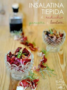 One in A Million: Insalatina tiepida di radicchio, pancetta e borlotti _ Warm salad of radicchio, bacon and beans with balsamic vinegar and rosemary