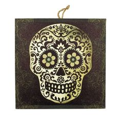 The Holiday Aisle 'Halloween Sugar Skull' Graphic Art Print on Wood brings you the holiday atmosphere to any room of your home. Types Of Art, Type Art, Halloween Coloring, Creative Decor, Fall Halloween, Wood Print, Decorative Accessories, Graphic Art, Canvas Art