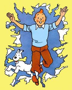 Have a picture of Tintin and Snowy breaking through your dash! Fictional Heroes, Fictional Characters, Tin Tin Cartoon, Album Tintin, Captain Haddock, Comics Und Cartoons, Herge Tintin, Historia Universal, Little Brothers