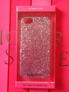 Victorias Secret PInk Glitter iPhone 5 5s Soft Gel Phone Case Apple LAST ONE HTF #VictoriasSecret