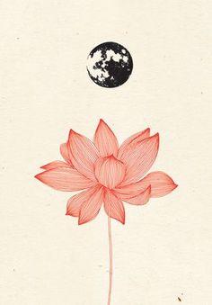 Yoga Art Illustration Lotus Flowers Ideas For 2019 Art And Illustration, Kunst Tattoos, Lotus Tattoo, Motif Floral, Art Inspo, Art Drawings, Flower Drawings, Drawing Flowers, Body Art