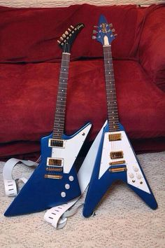 Gibson Explorer or Gibson Flying V? Trick question: neither.  Agile Ghost is the obvious choice.